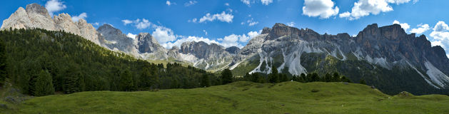 Dolomites, Odle and Mount Stevia - Italy. Overview Odle and Mount Stevia taken near the mountain resort Florence Stock Photography