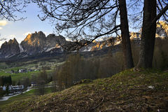 Dolomites over Cortina Royalty Free Stock Photo