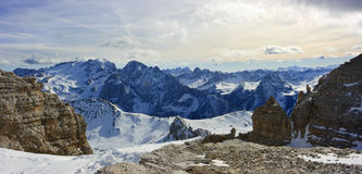 Dolomites panorama Royalty Free Stock Photo