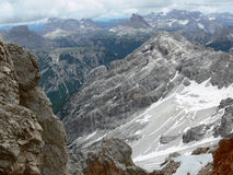 Dolomites Panorama. The Panorama from the Monte Cristallo (Dolomite Royalty Free Stock Photography