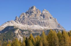 Dolomites panorama - Tre Cime di Lavaredo Royalty Free Stock Photos