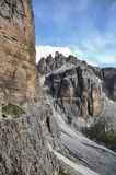 Dolomites path Royalty Free Stock Photo