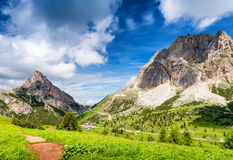 Dolomites peaks near Falzarego - Italy Royalty Free Stock Photography