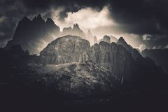 Dolomites Peaks Scenery Stock Photos
