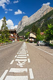 Dolomites - Penia village Stock Photos