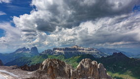 Dolomites plateau time lapse from Marmolada middle point stock footage