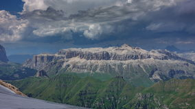 Dolomites plateau time lapse from Marmolada top point. Time lapse of Dolomites plateau from Marmolada top point, 4k stock video