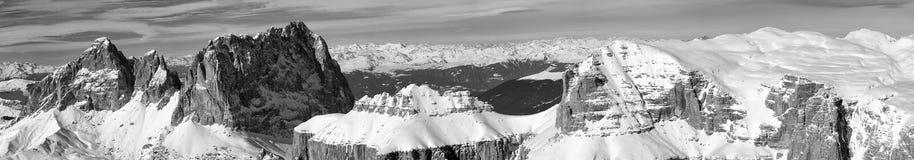 Dolomites Pordoi Mountain Alps Huge view Royalty Free Stock Photo