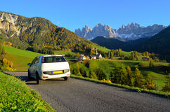 Dolomites road trip stock images