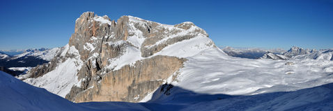 Dolomites Rosetta panorama 1 Royalty Free Stock Photo