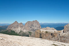 Dolomites from Saas Pordoi Stock Images