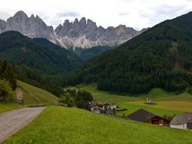 Dolomites with San Giovanni hermitage Royalty Free Stock Image