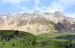 Dolomites, San Pellegrino, Italy. A day view of the mountains from the San Pellegrino in the Dolomites, Alps, Italy Royalty Free Stock Image