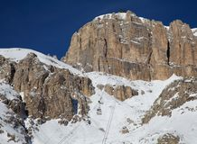 The Dolomites Sasso Pordoi Royalty Free Stock Images