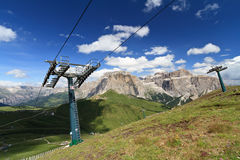 Dolomites and Sella pass Stock Photo