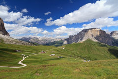 Dolomites - Sella pass Stock Image