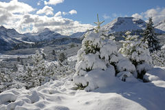 Dolomites in September Royalty Free Stock Photos
