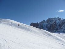 Dolomites ski run Royalty Free Stock Photography