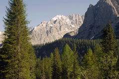 Dolomites in the spring. The Dolomites in Northern Italy, in the springtime Stock Photography