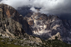 Dolomites before Storm Stock Photo