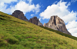 Dolomites on summer Stock Images