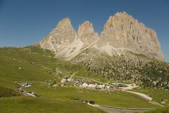 Dolomites Summer Landscape Stock Photo