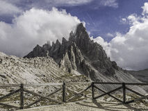 Paterno mount, Dolomites, in summer Stock Photo