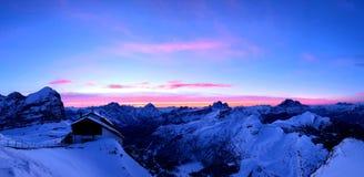 Dolomites sunrise royalty free stock image