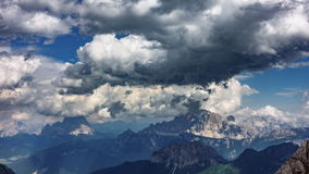 Dolomites time lapse from Marmolada top point. Time lapse of Dolomites from Marmolada top point, 4k stock video footage