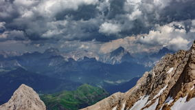 Dolomites time lapse from Marmolada top point. Time lapse of Dolomites from Marmolada top point, 4k stock video