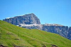 Dolomites Unesco. Summer portrait of Italian Dolomites in val di Fassa South Tyrol Alps Italy stock photography