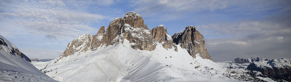 Dolomites in Val di Fassa Royalty Free Stock Photos