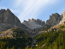 Dolomites. View from Pass (Passo) Falzarego  Italy Stock Photo
