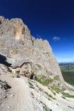Dolomites - vista de Sassolungo imagens de stock royalty free