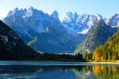 Dolomites, vue de Monte Cristallino Photographie stock