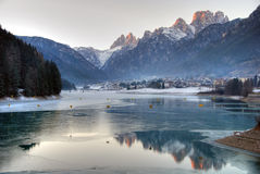 Dolomites Winter, Italy Stock Photography