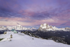 Dolomites in winter Royalty Free Stock Photo