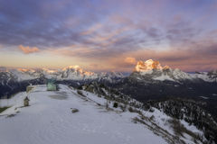 Dolomites in winter Stock Image