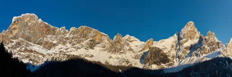 Dolomites in winter time Stock Photography
