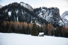 Location, Val Fiscalina - trentino alto adige - Italy. Dolomites in winter, val pusteria - trentino alto adige - italy royalty free stock images