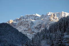 Dolomites in wintertime Stock Images