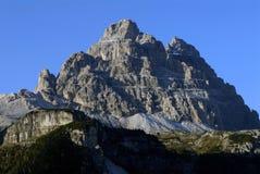 Dolomitesna i norr Italien   Arkivfoto