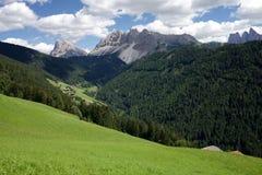 Dolomitespanorama nära Plose, Bolzano Arkivbilder