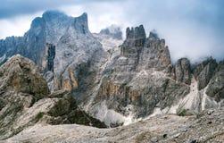Dolomitgruppe des Catinaccio, Rosengarten Lizenzfreie Stockfotografie