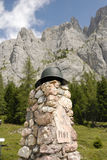 Dolomiti意大利, Piave的上游源头 图库摄影