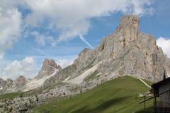 Dolomiti阿尔卑斯威尼托意大利 免版税库存照片