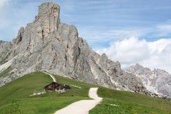 Dolomiti阿尔卑斯威尼托意大利 免版税库存图片