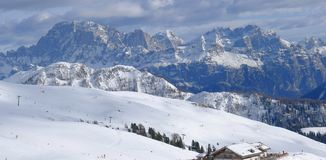 Dolomiti阿尔卑斯威尼托意大利 图库摄影