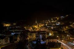 Dolomiti ночи Италии стоковые фотографии rf