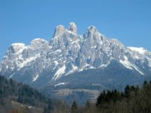 Dolomiti. Pale di San Martino in the Dolomites, Italy Royalty Free Stock Images
